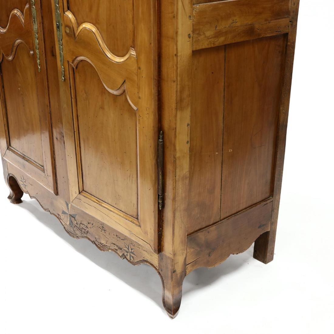 Antique French Provincial Inlaid Cherry Armoire - 2