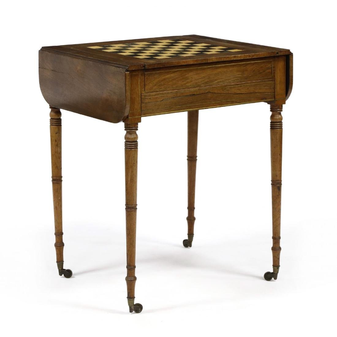 English Regency Game Table