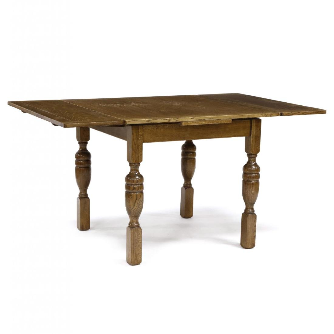 Vintage English Oak Pub Table - 3