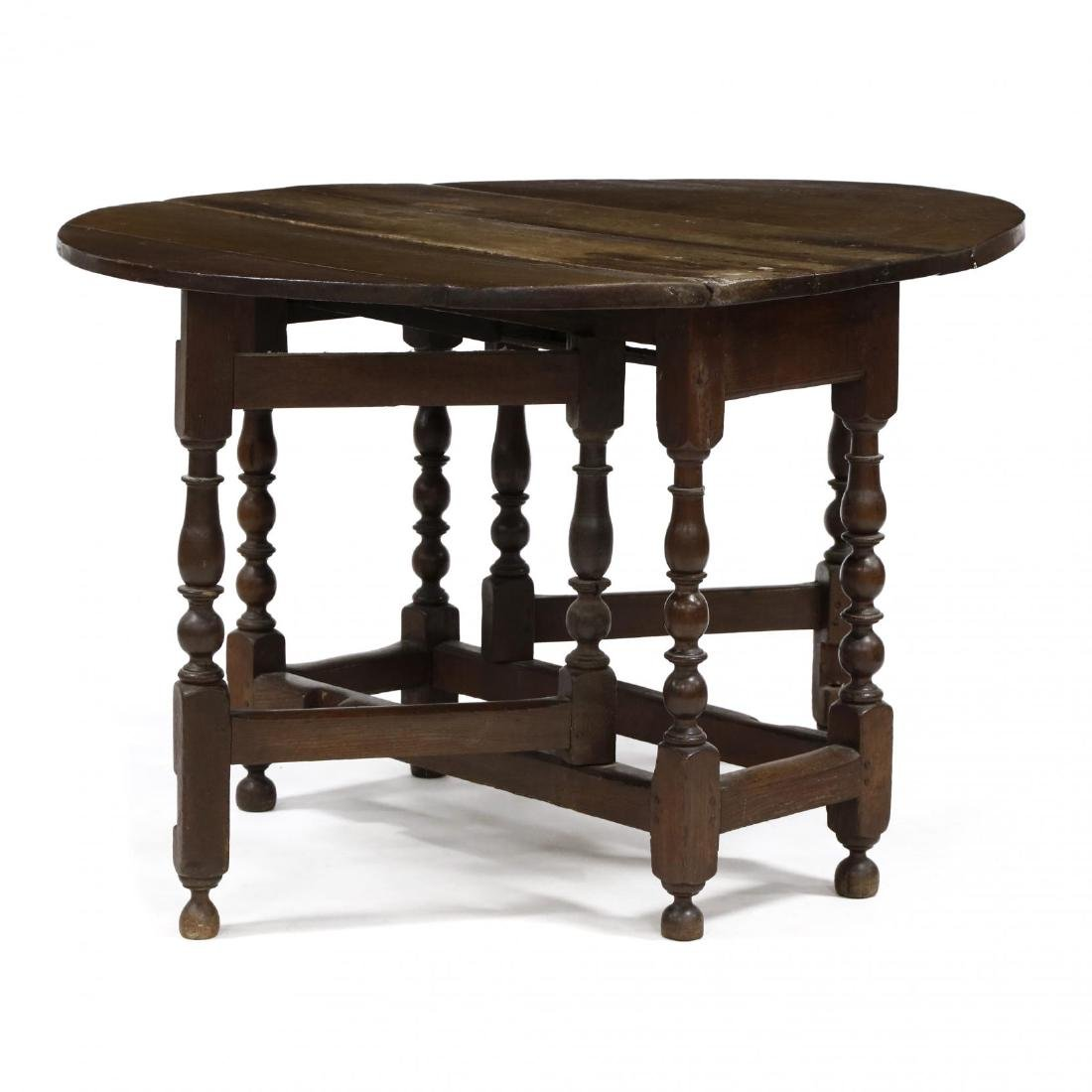 William and Mary Gateleg Table - 3