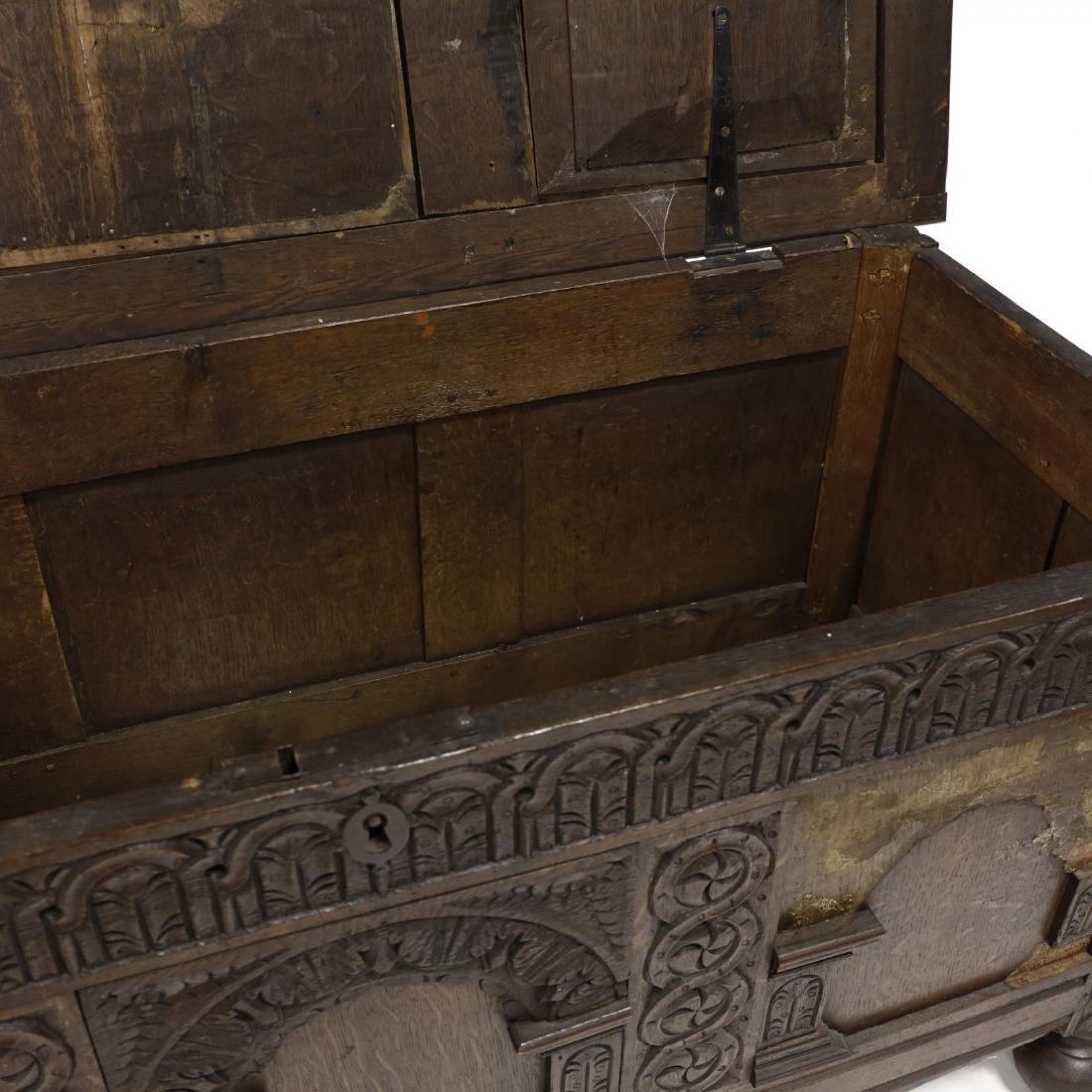 Jacobean Carved Walnut Coffer - 3
