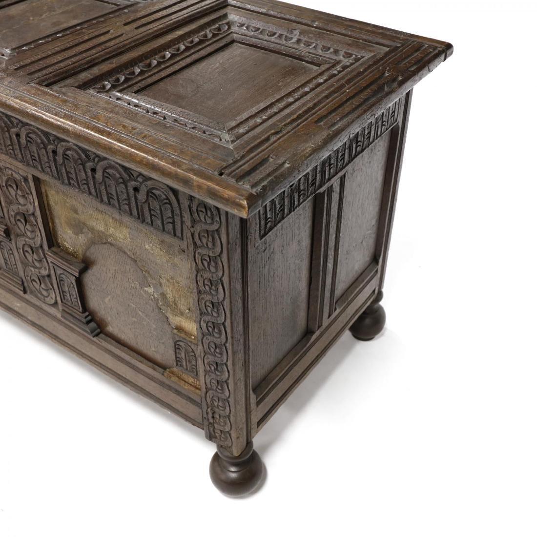 Jacobean Carved Walnut Coffer - 4