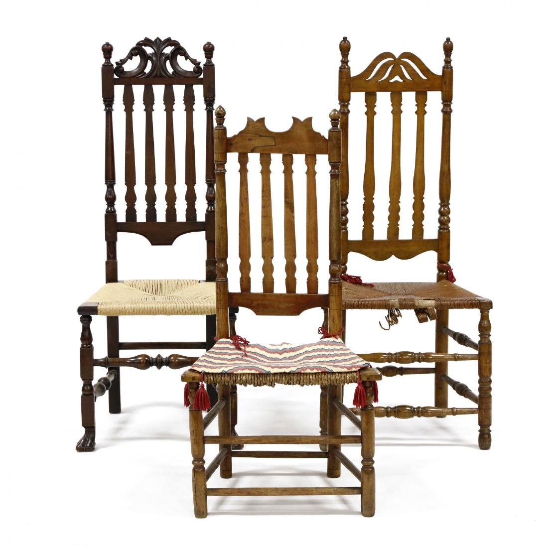 Three Banister Back Chairs
