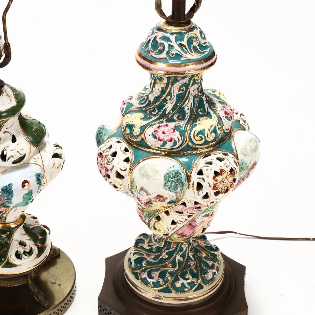 Two Capodimonte Porcelain Table Lamps - 2