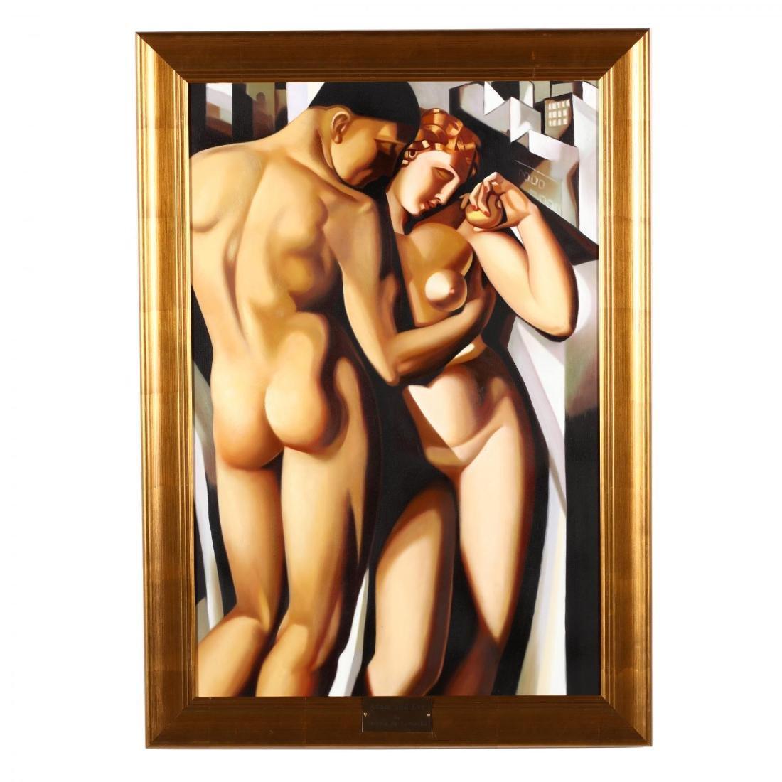 after Tamara de Lempicka,  Adam and Eve