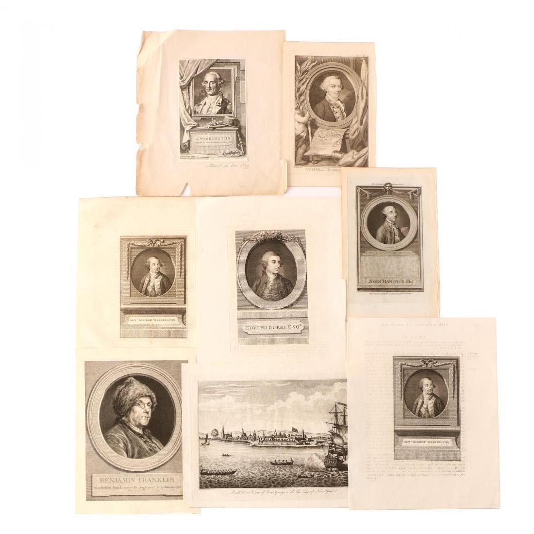 Eight Antique Prints, Primarily Portraits