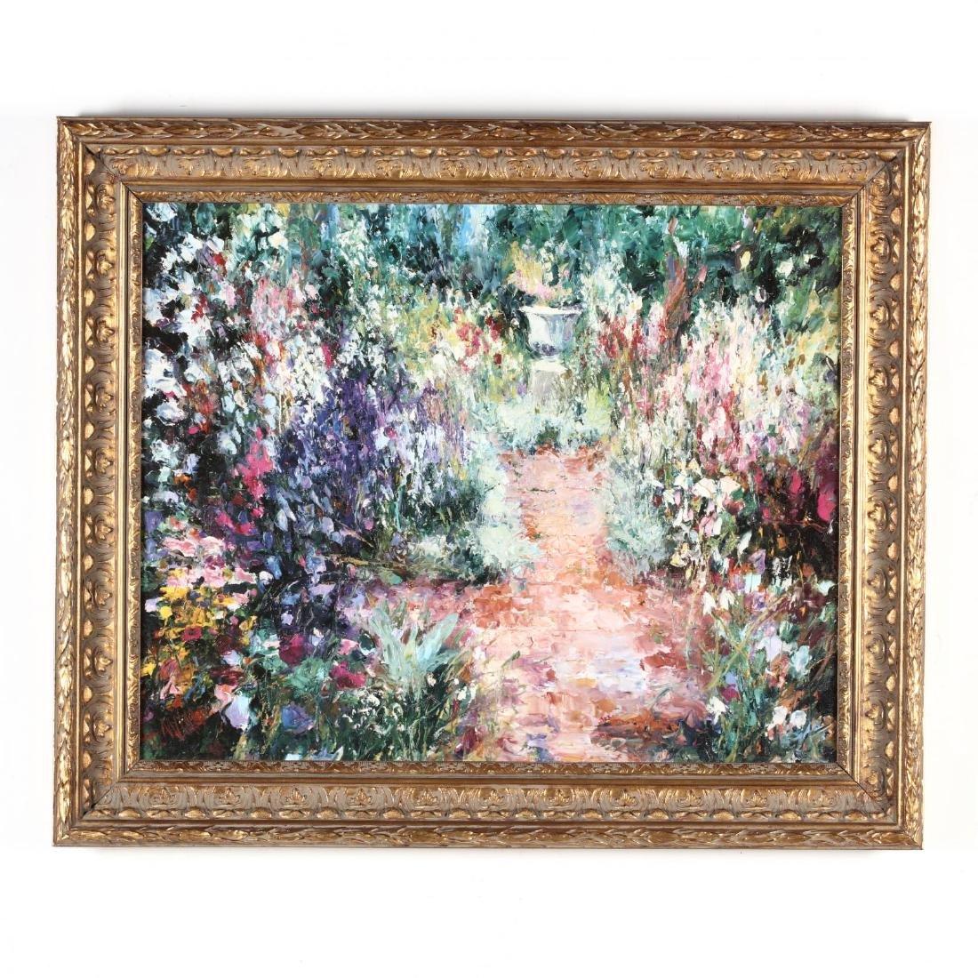An Impressionist Garden Scene, Framed Giclée