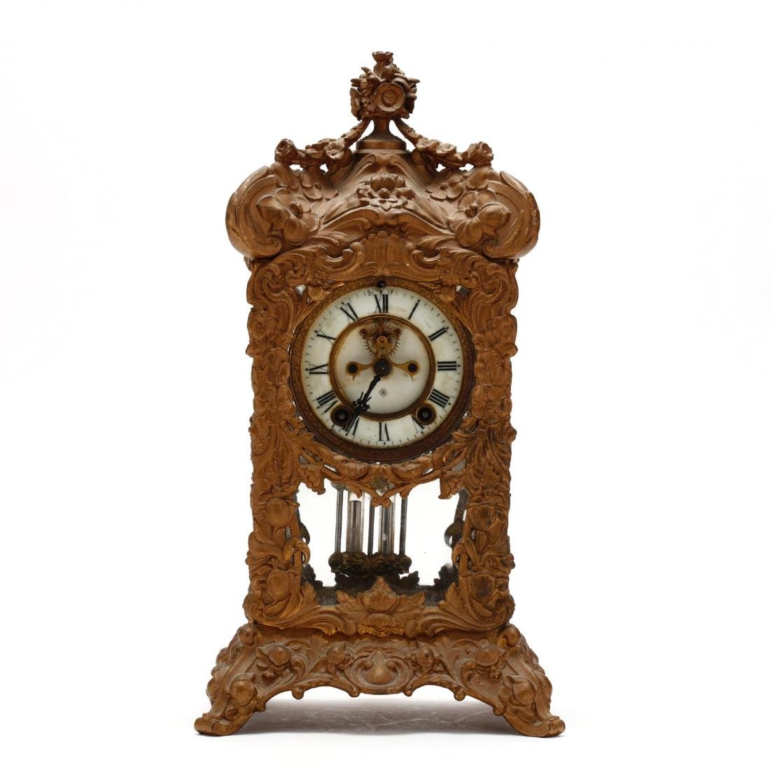 Ansonia Art Nouveau Bracket Clock - 2