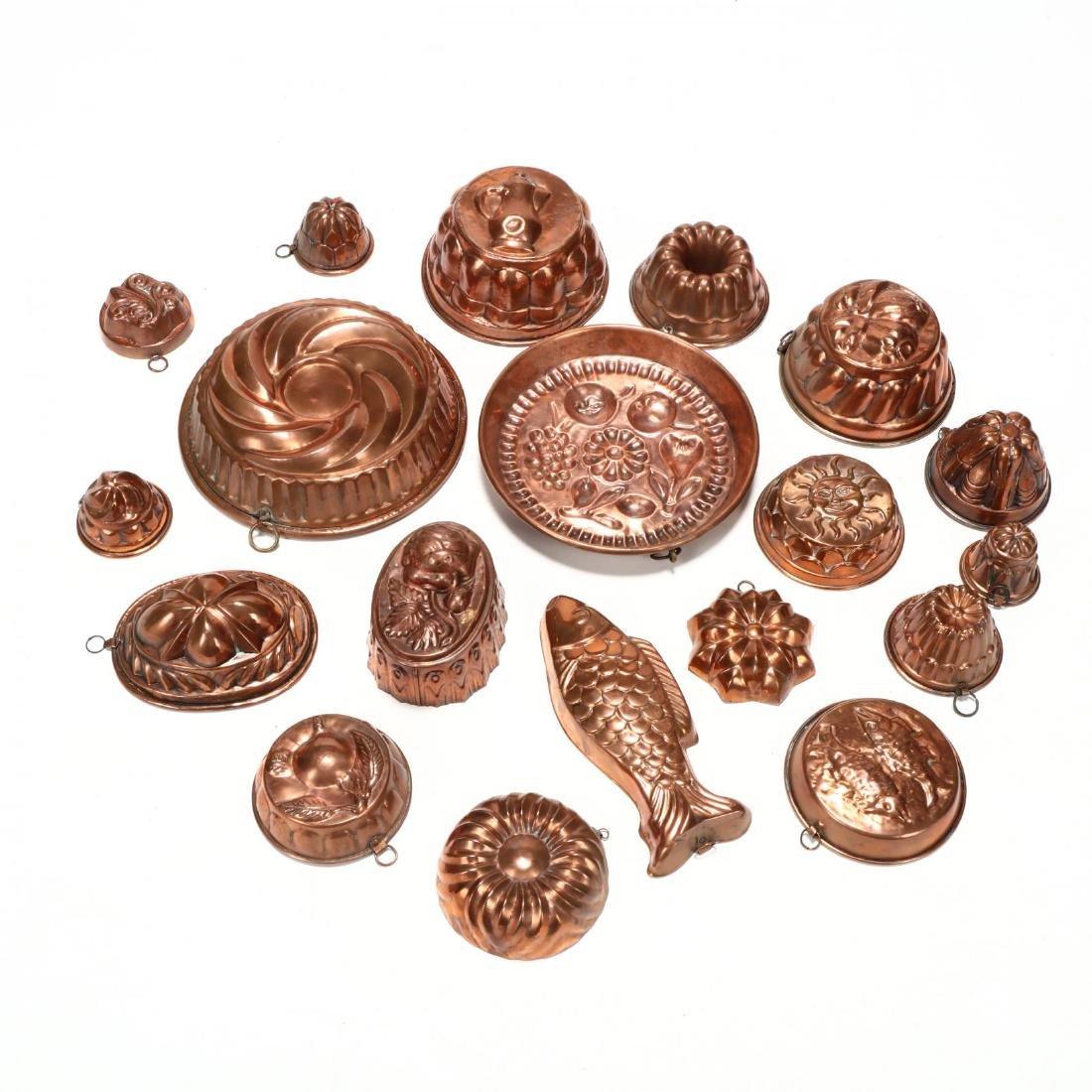 (19) Vintage Copper Molds