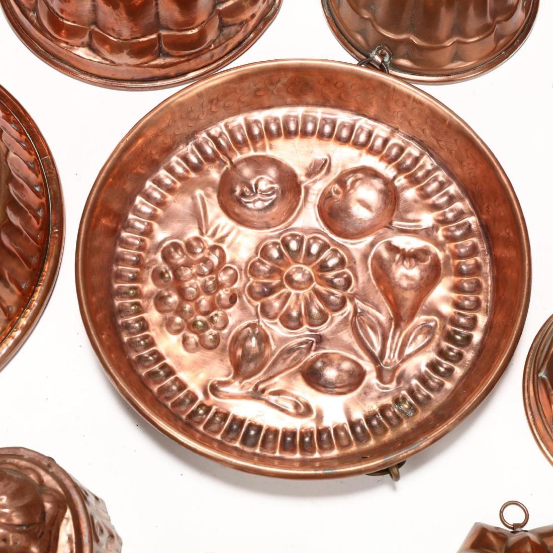 (19) Vintage Copper Molds - 2