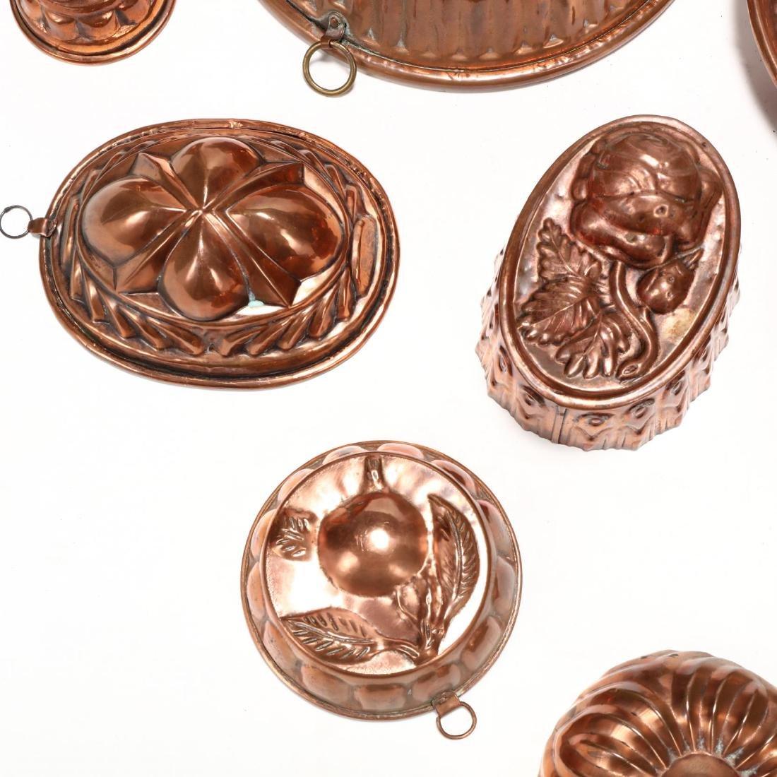 (19) Vintage Copper Molds - 3