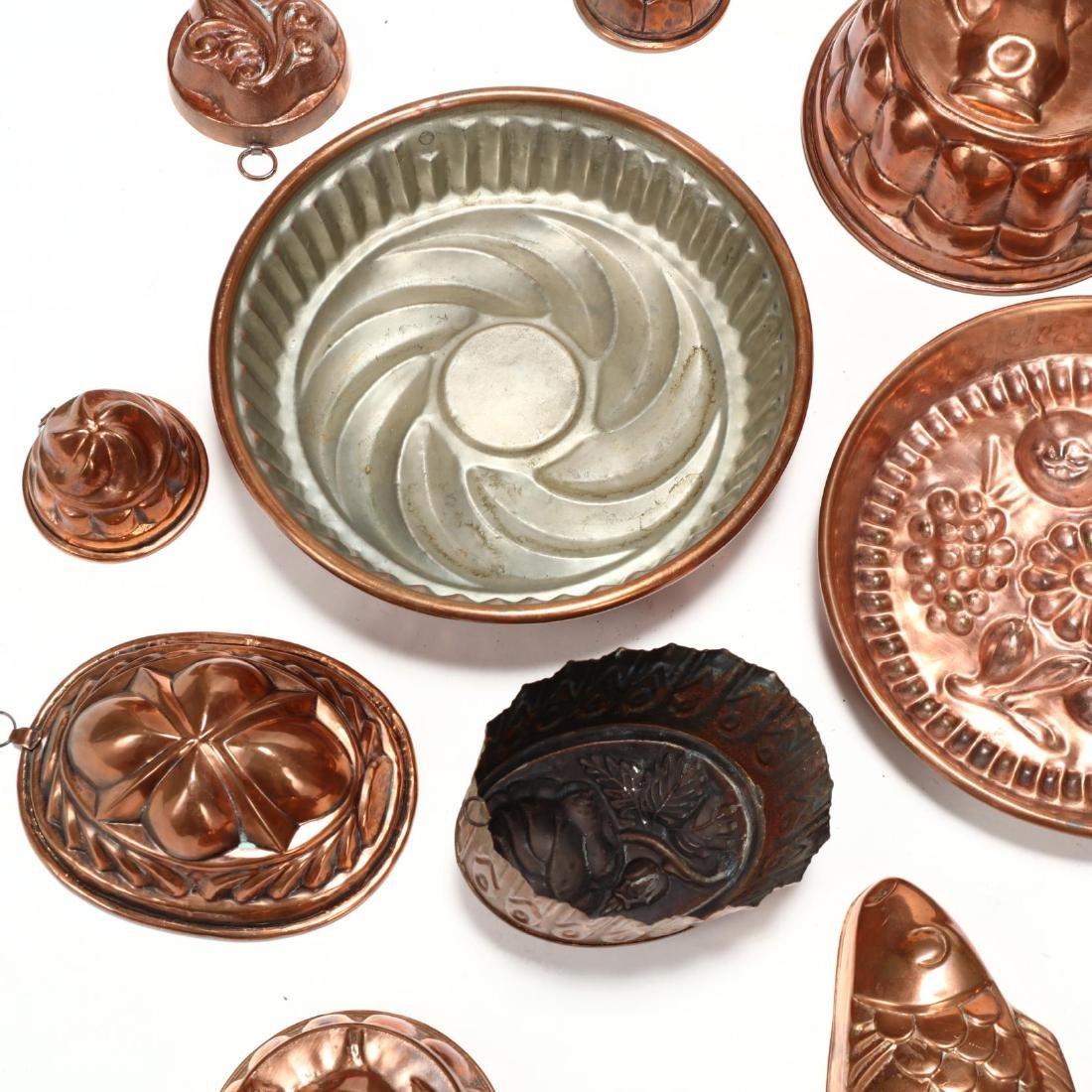 (19) Vintage Copper Molds - 4