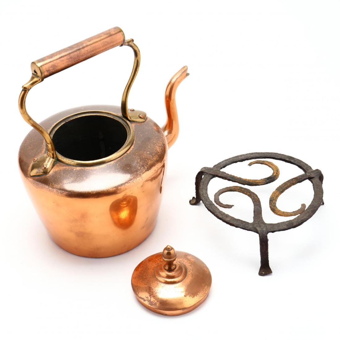 Three Vintage Copper Kettles - 3