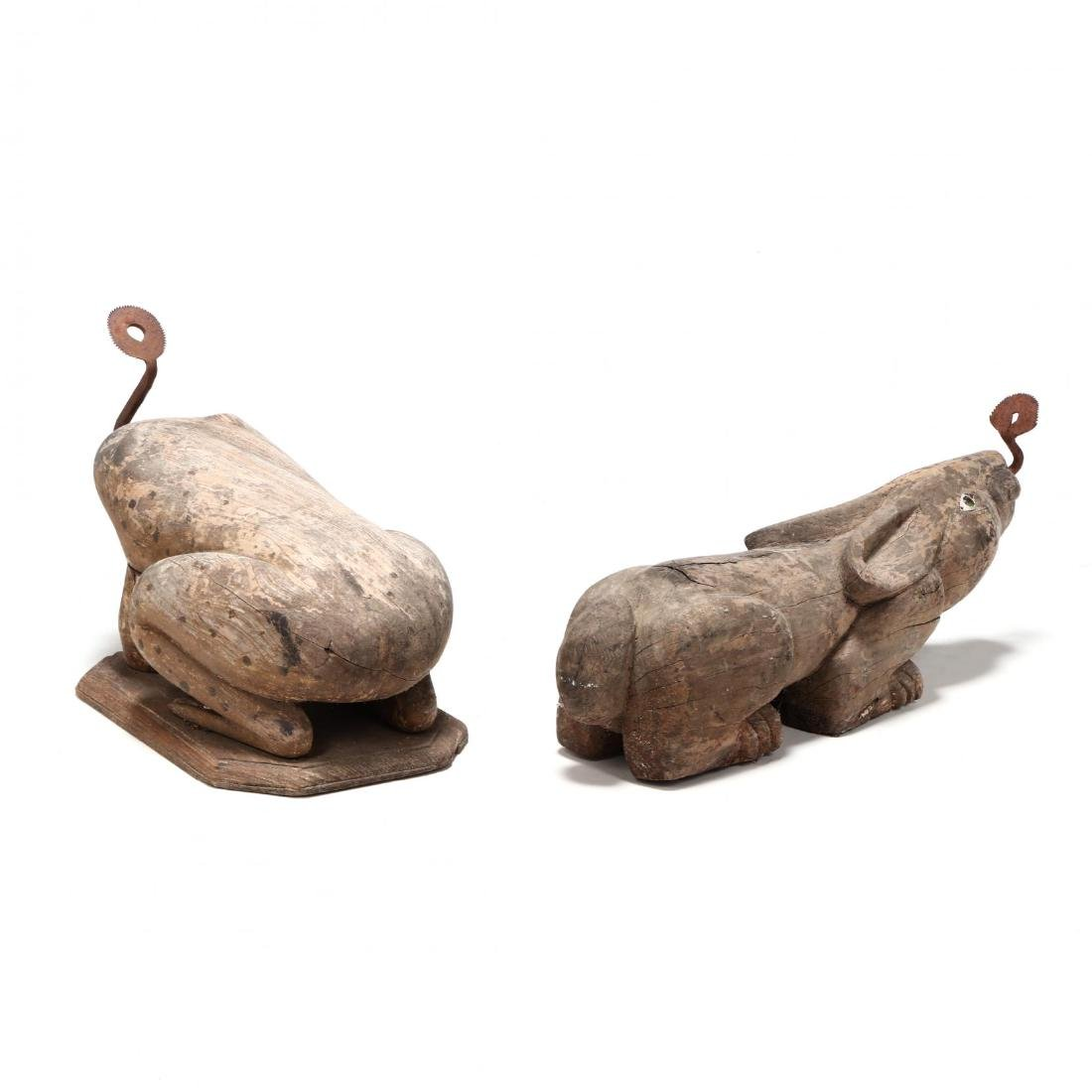 Two Asian Figural Coconut Scrapers - 2