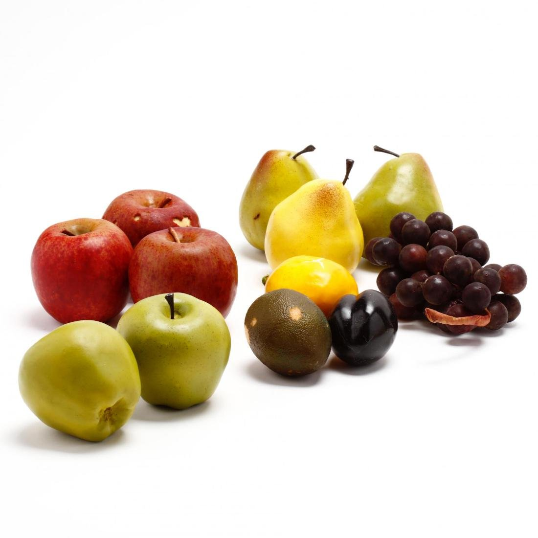 Stone and Decorative Fruit Grouping - 2