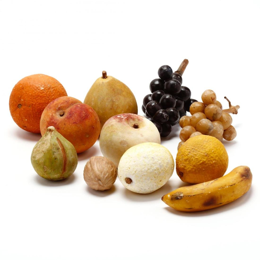 Stone and Decorative Fruit Grouping - 3