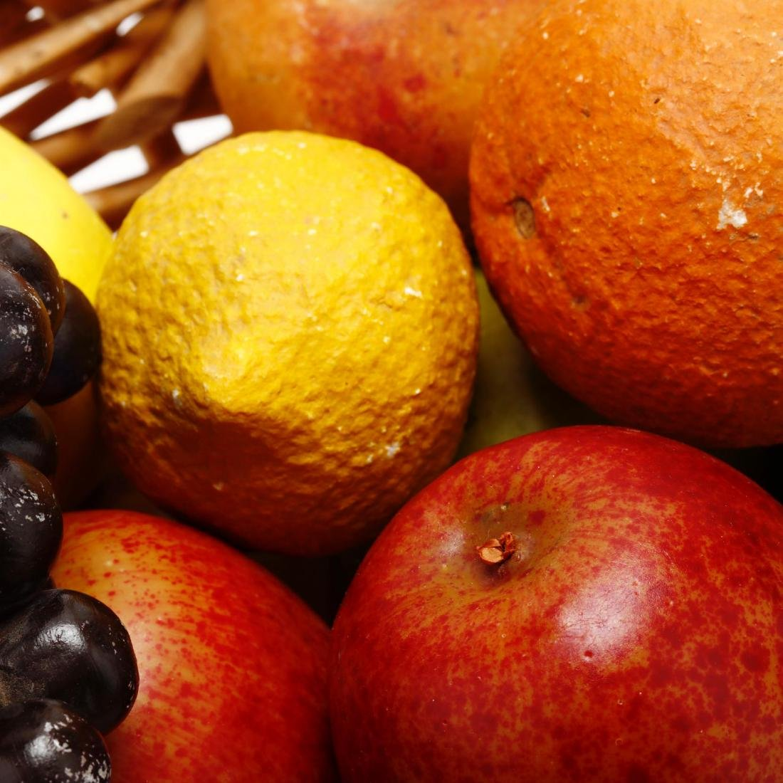 Stone and Decorative Fruit Grouping - 8