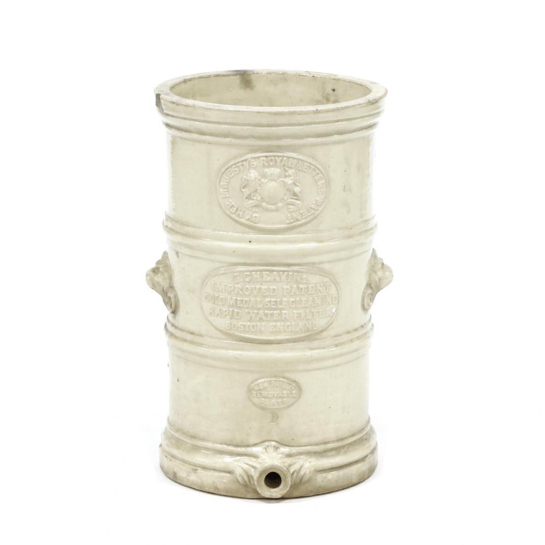 G. Cheavins, Antique English Stoneware Water Filter