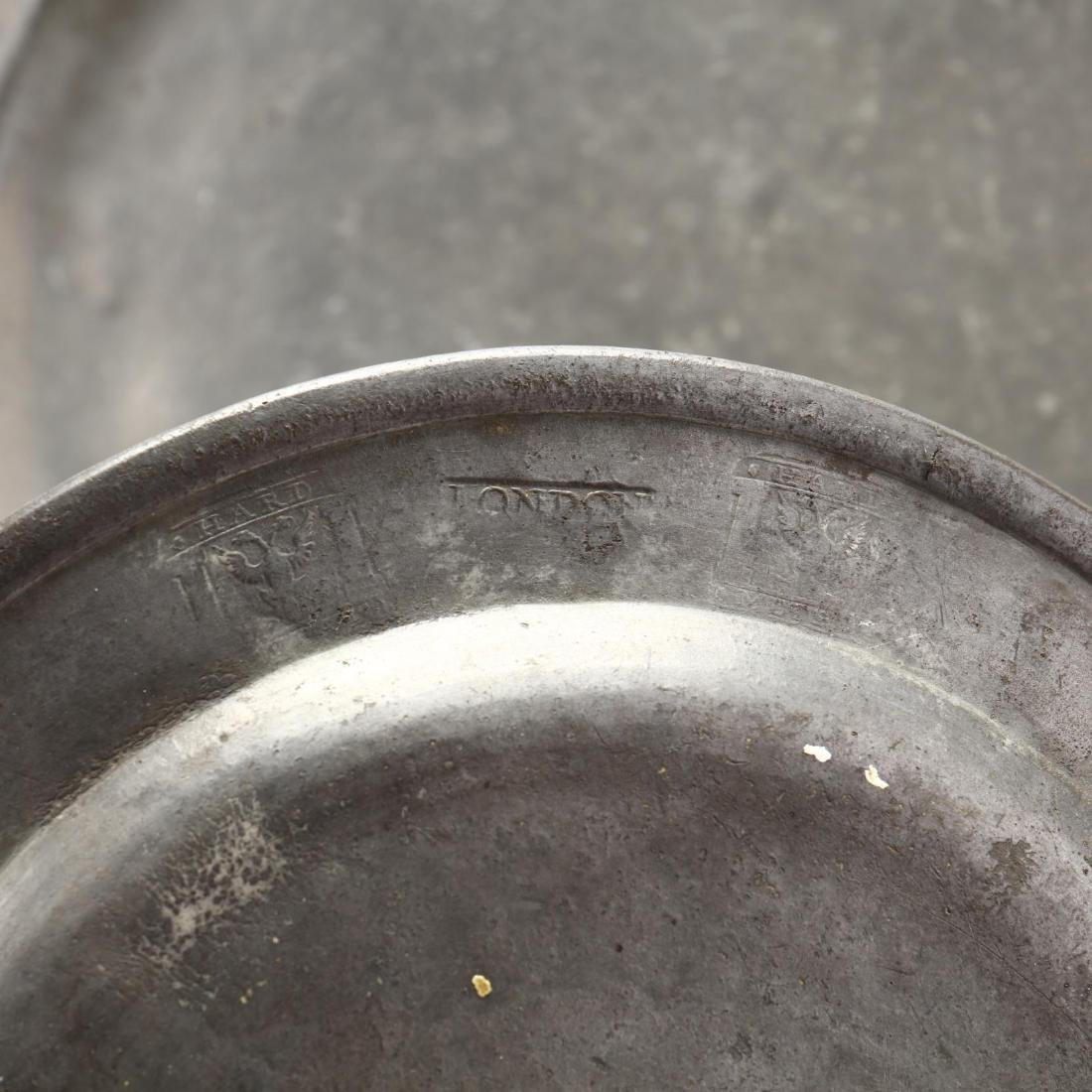 (16) Antique Pewter Serving Objects - 7