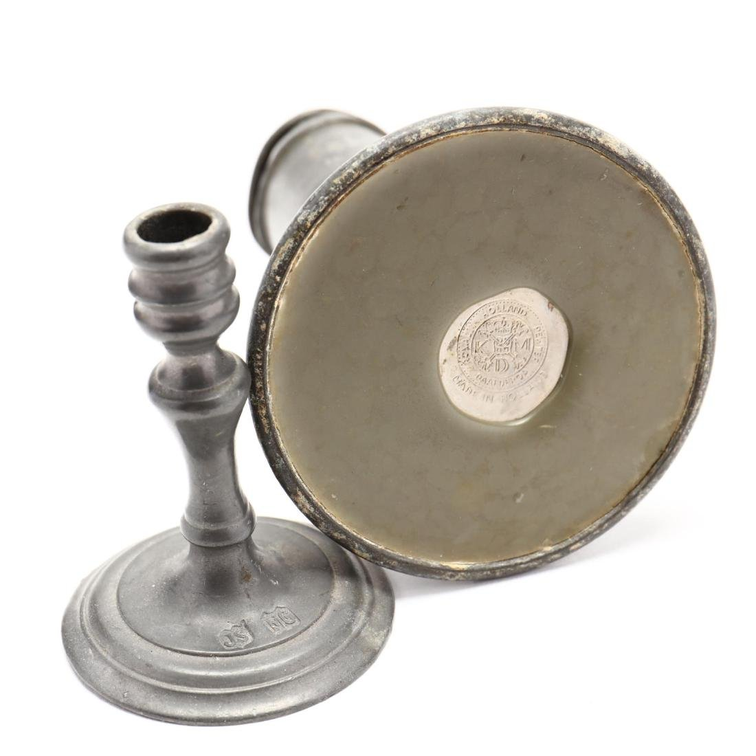Six Early Pewter Desk Accessories - 5