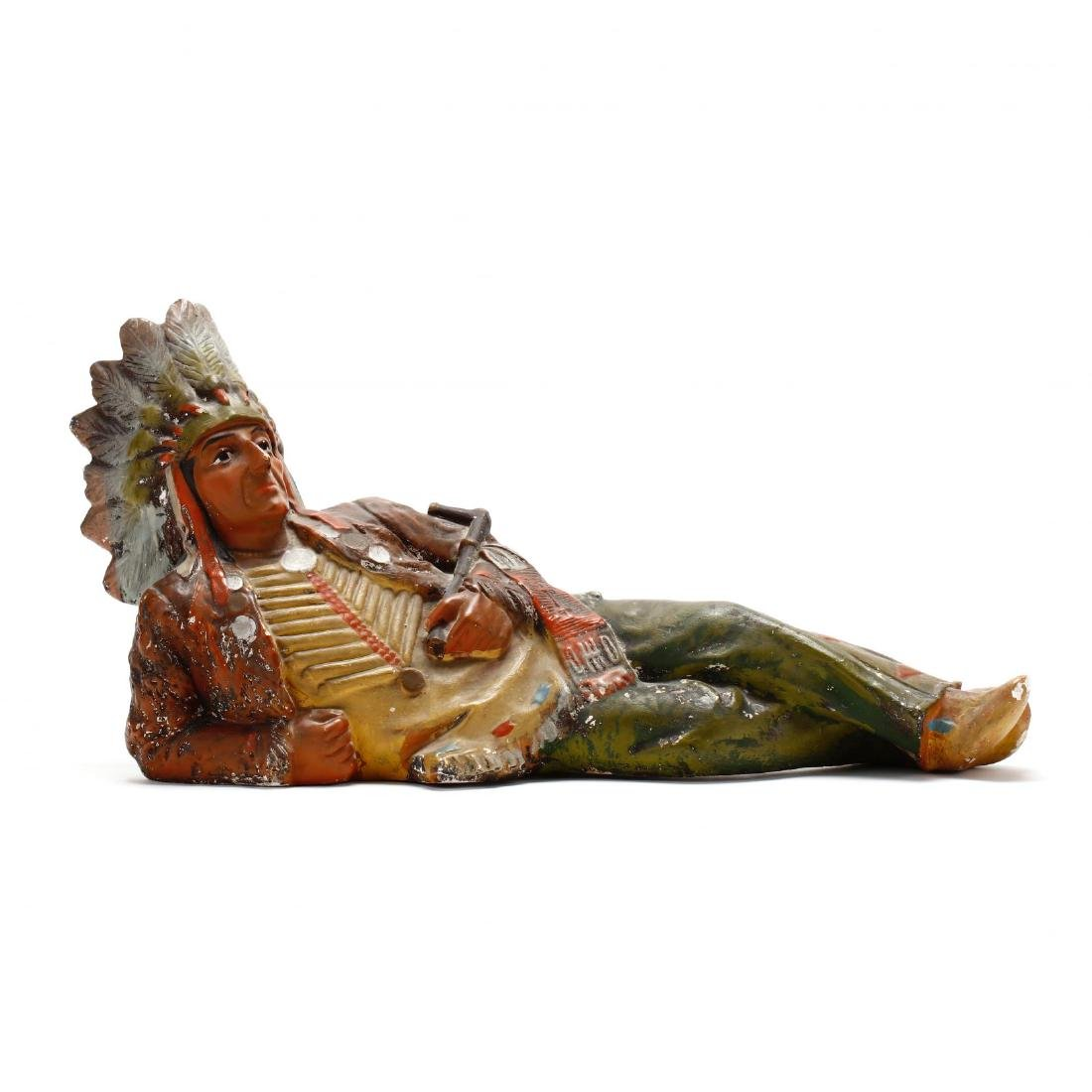Vintage Chalkware Cigar Store Indian