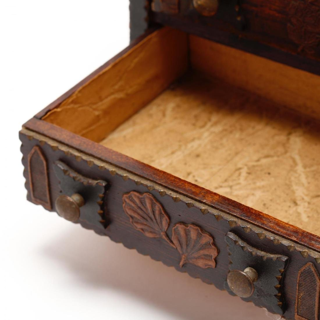 Two Vintage Tramp Art Miniature Chests of Drawers - 6