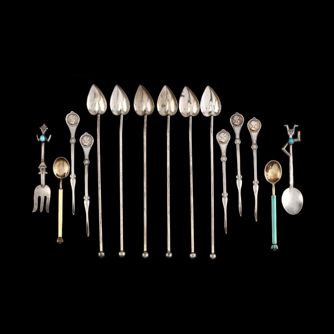 Group of Assorted Silver and Silverplate Flatware