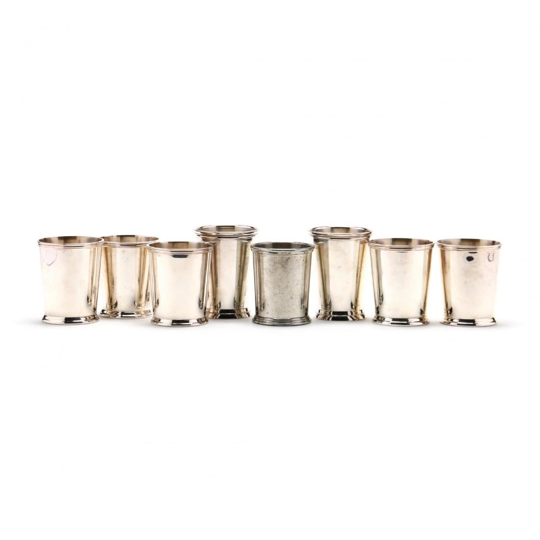 Eight Silverplate and Pewter Mint Juleps - 2
