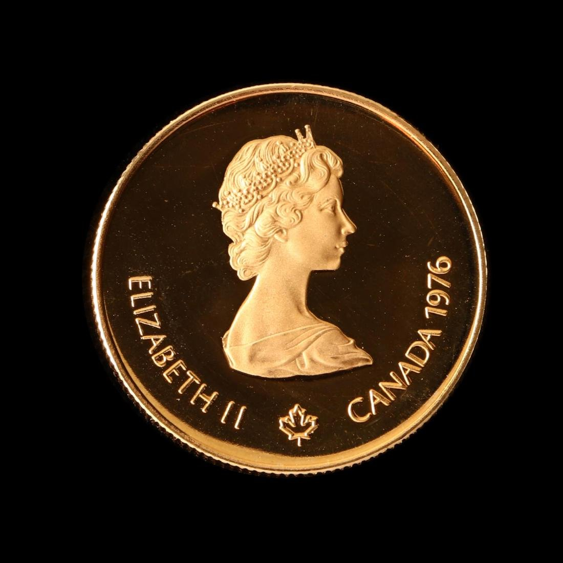 Canada, 1976 XXI Olympiad $100 Proof Half Ounce Gold