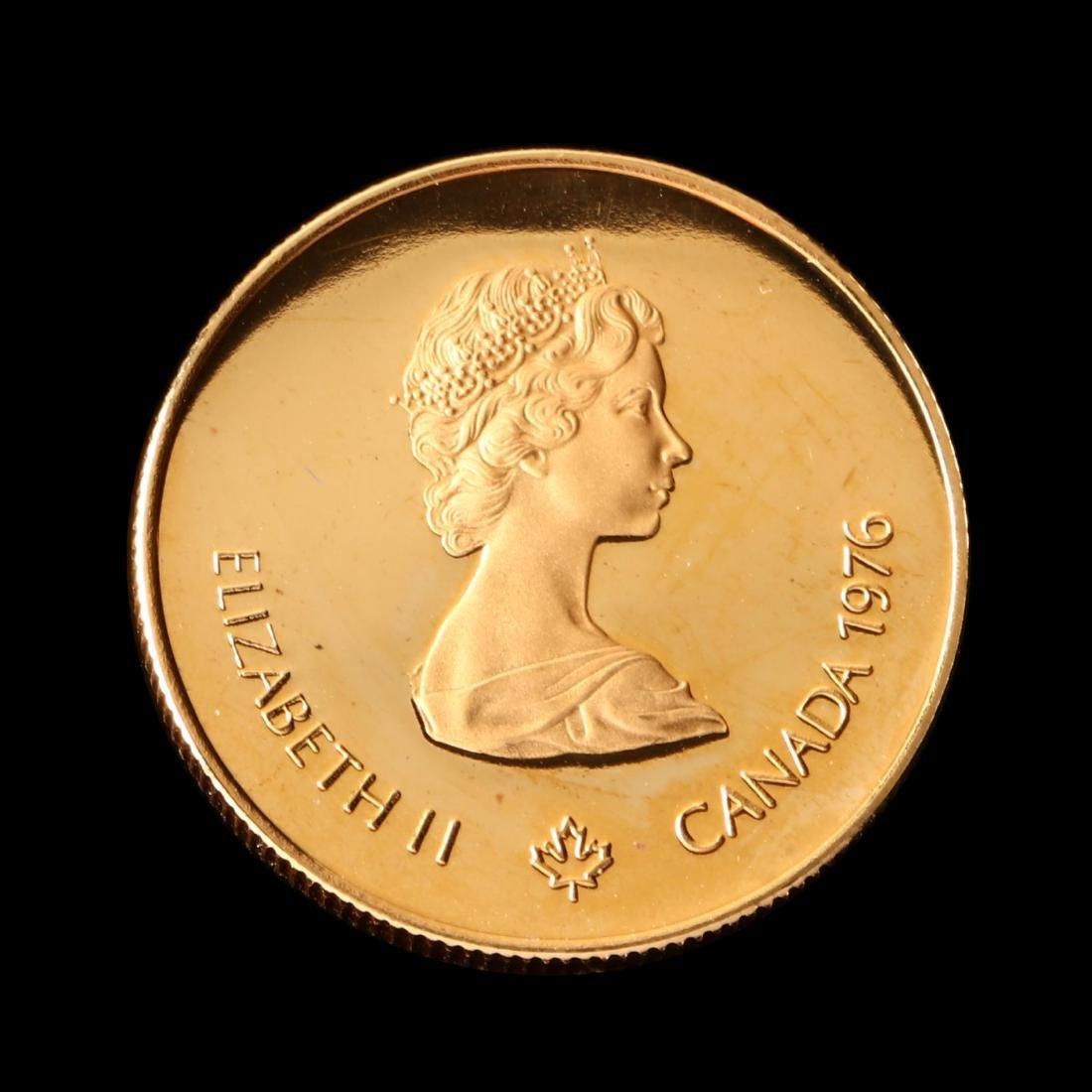 Canada, 1976 XXI Olympiad $100 Proof Half Ounce Gold - 2