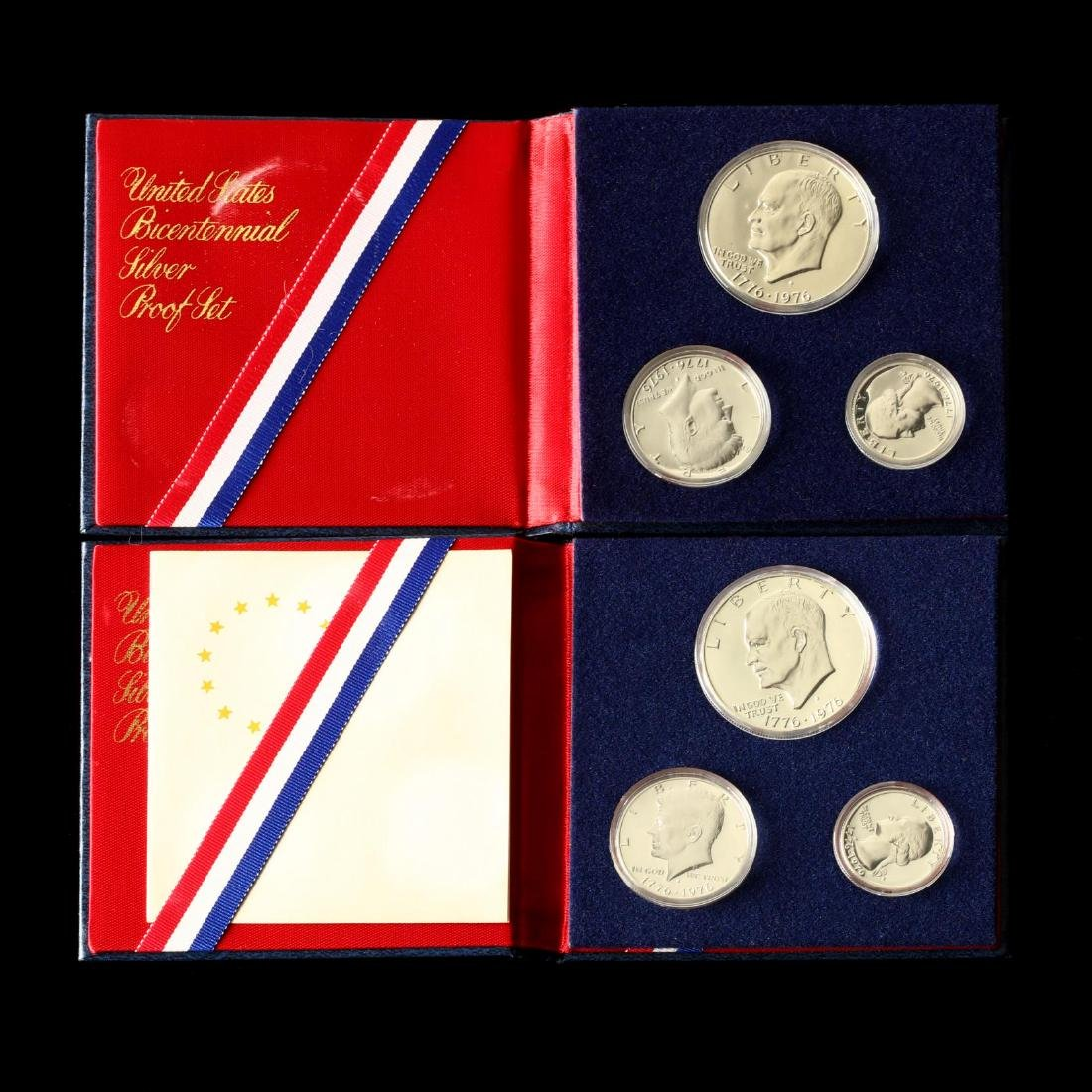 Two Three-Piece Bicentennial Silver Proof Sets