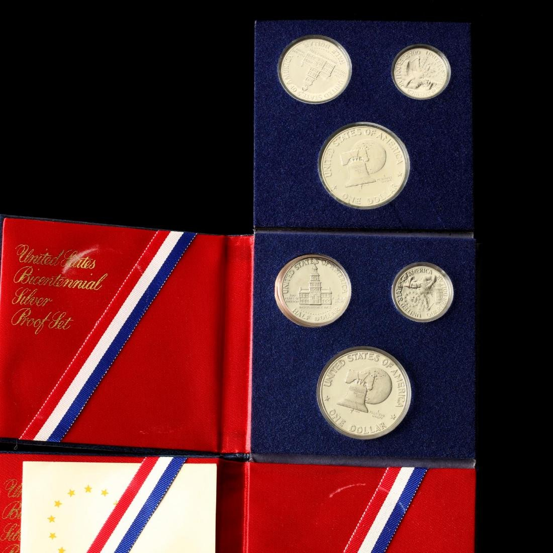 Two Three-Piece Bicentennial Silver Proof Sets - 2