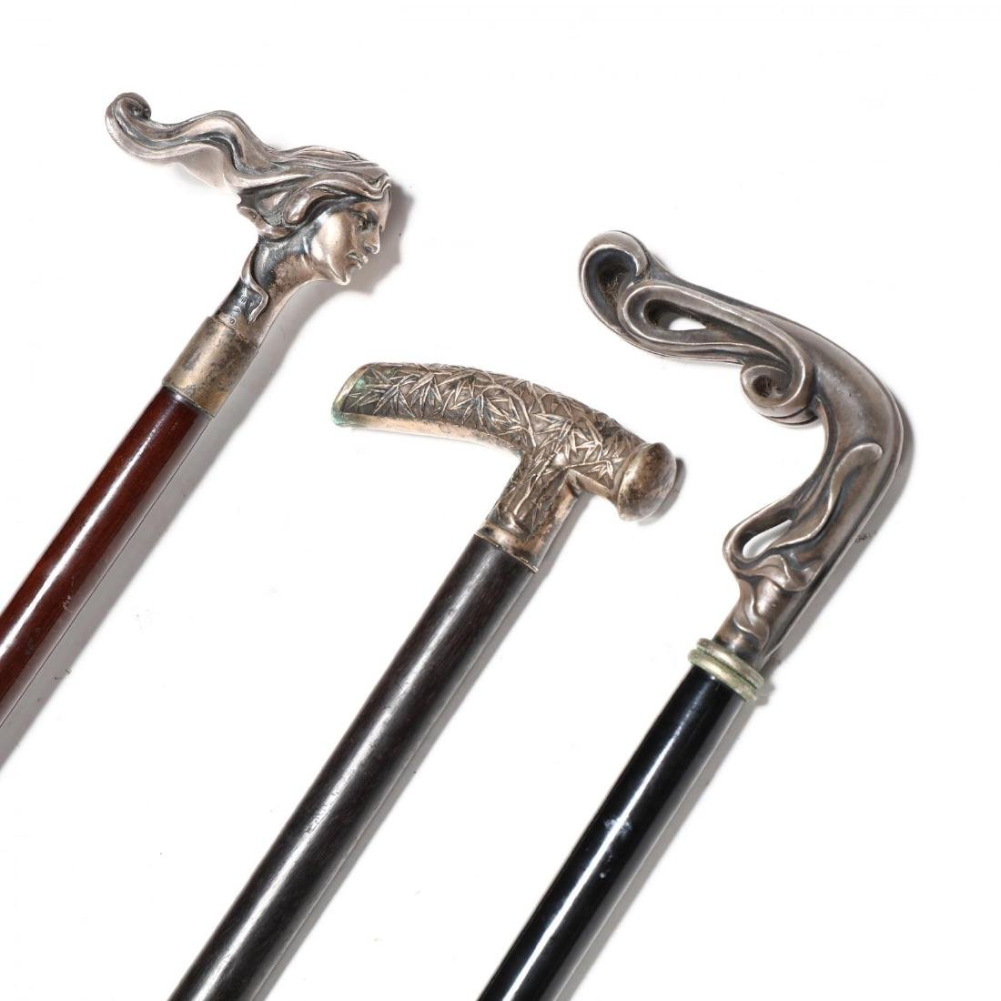 Three Silver Handled Canes - 2