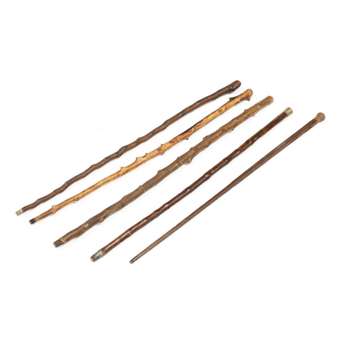 Five Vintage Walking Sticks