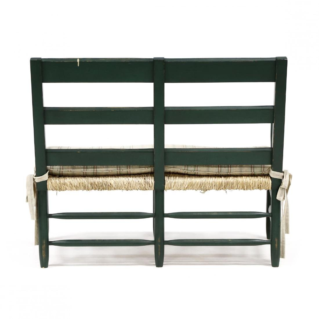 French Provincial Style Painted Settee - 3