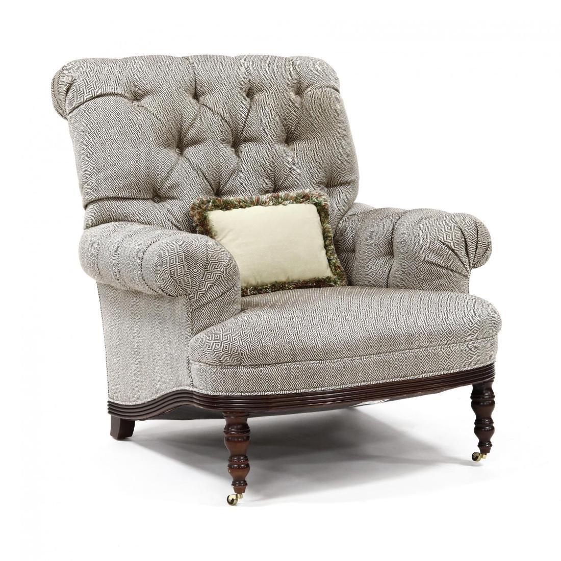 Baker, Overupholstered Library Chair