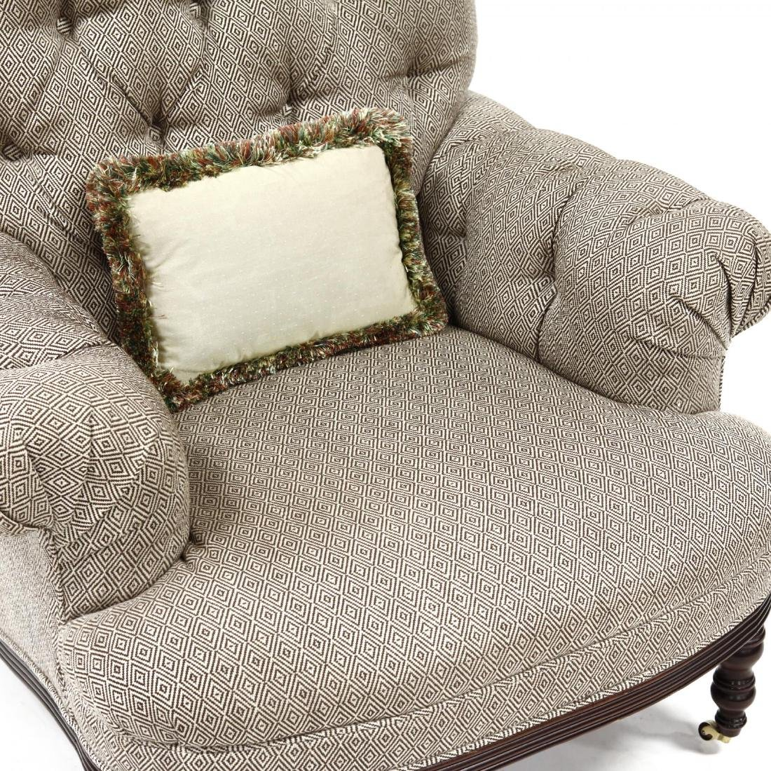 Baker, Overupholstered Library Chair - 2