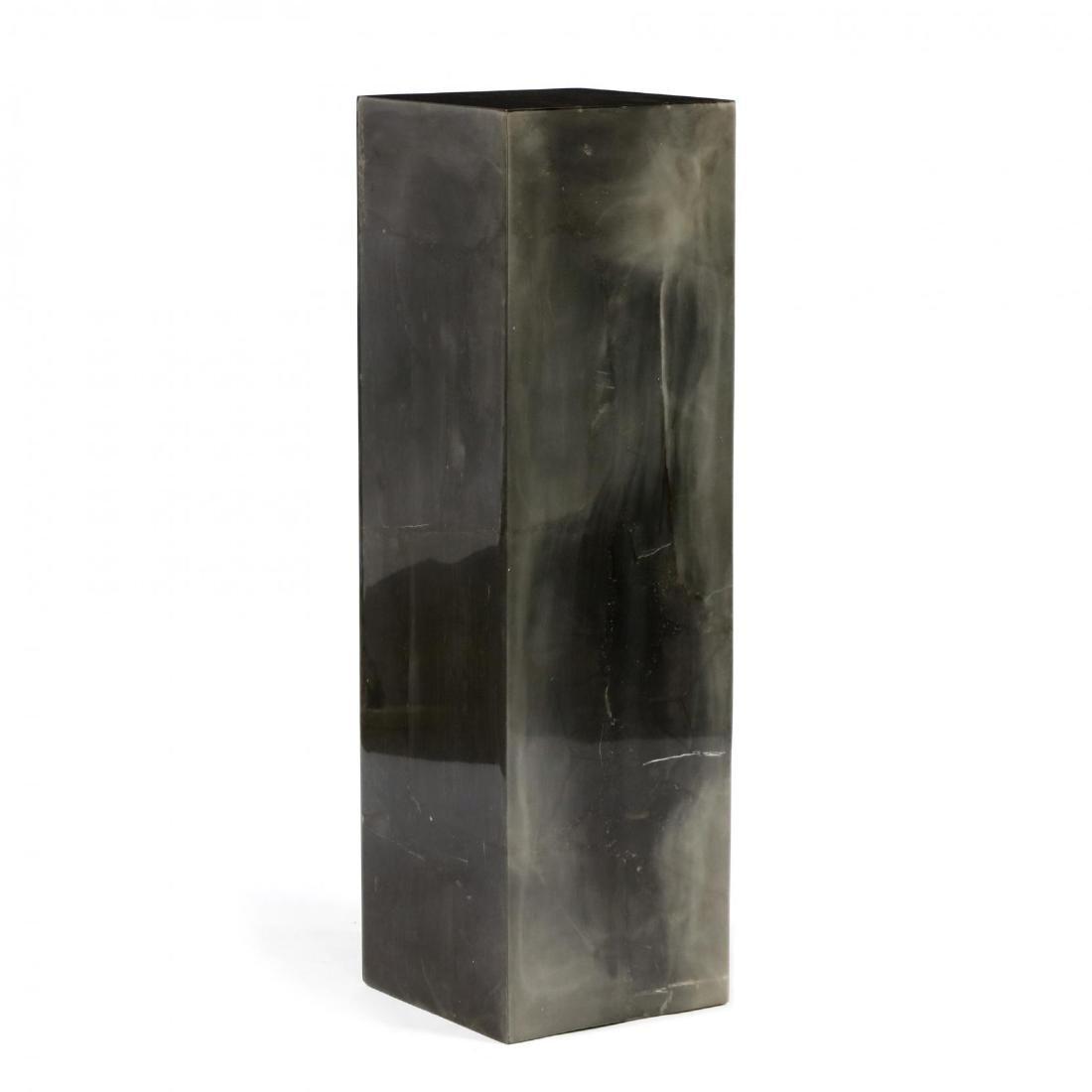 Modernist Stone Veneered Pedestal