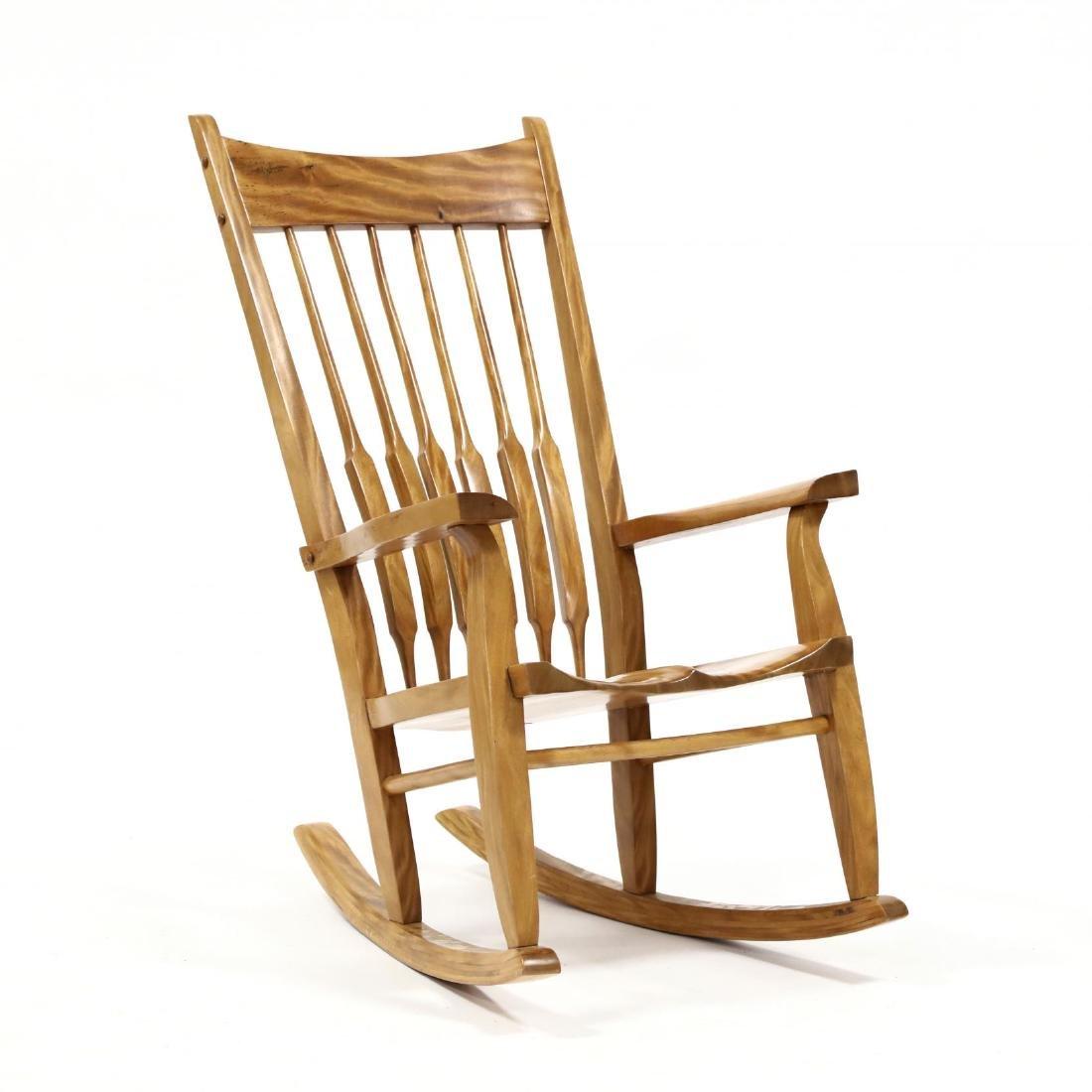 Randall Watkins, Koa Wood Rocking Chair