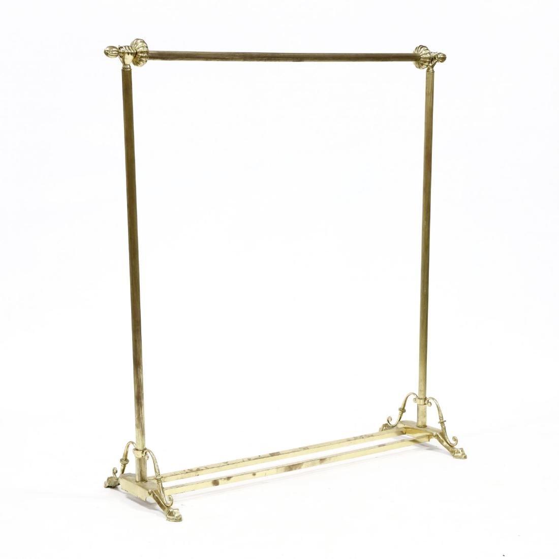 Vintage Brass Clothing Rack