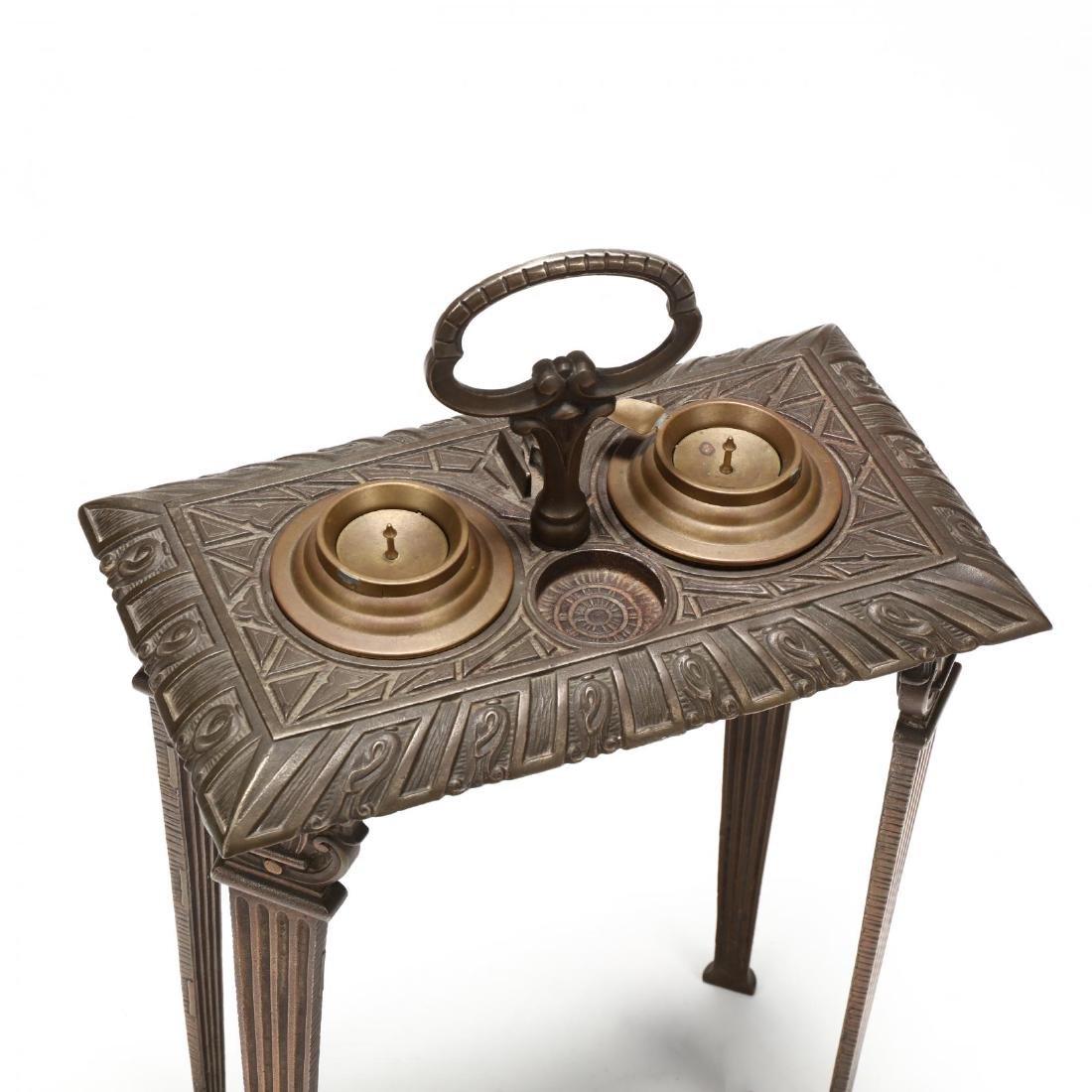 Art Deco Cast Iron Smoking Stand - 2