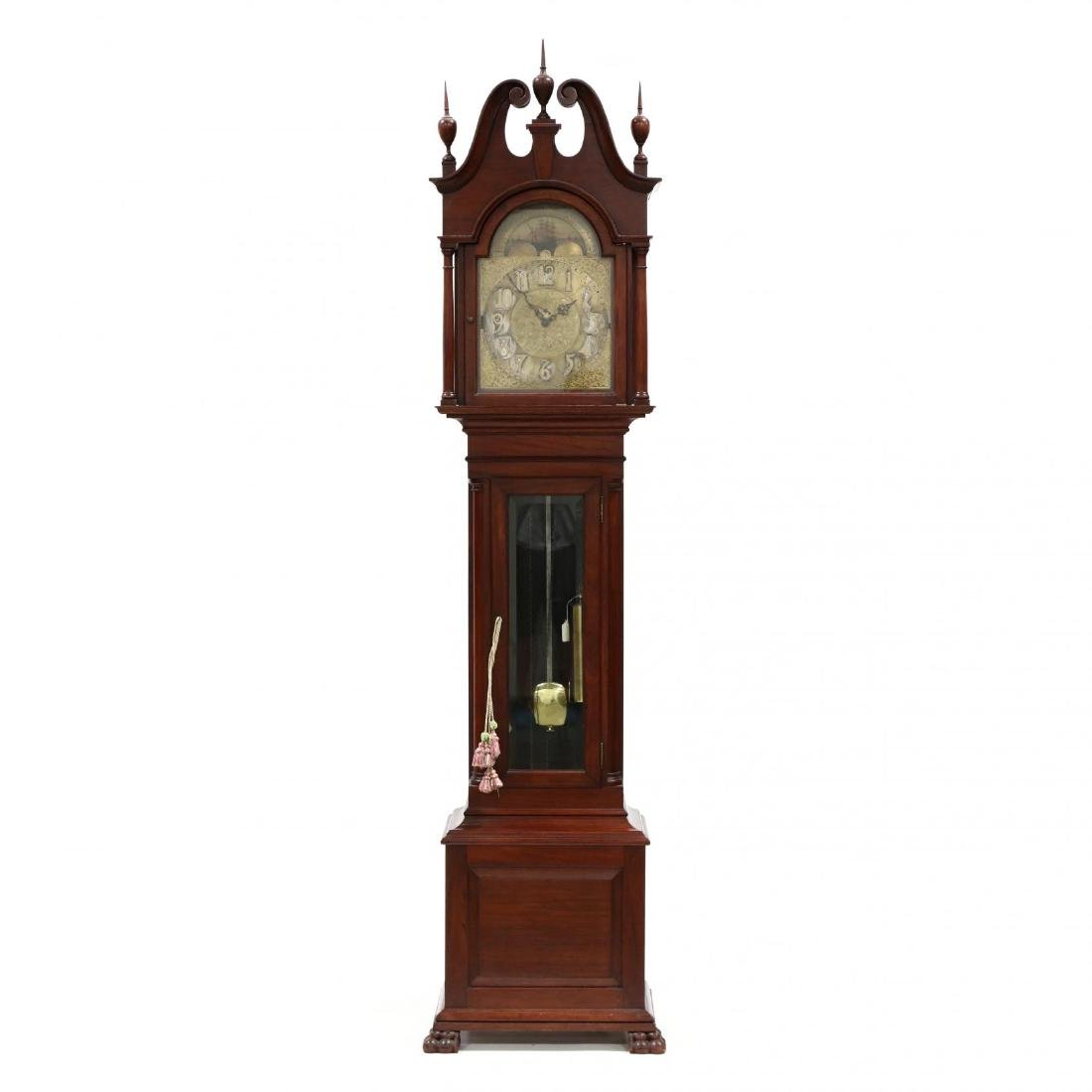 Chippendale Style Antique Tall Case Clock