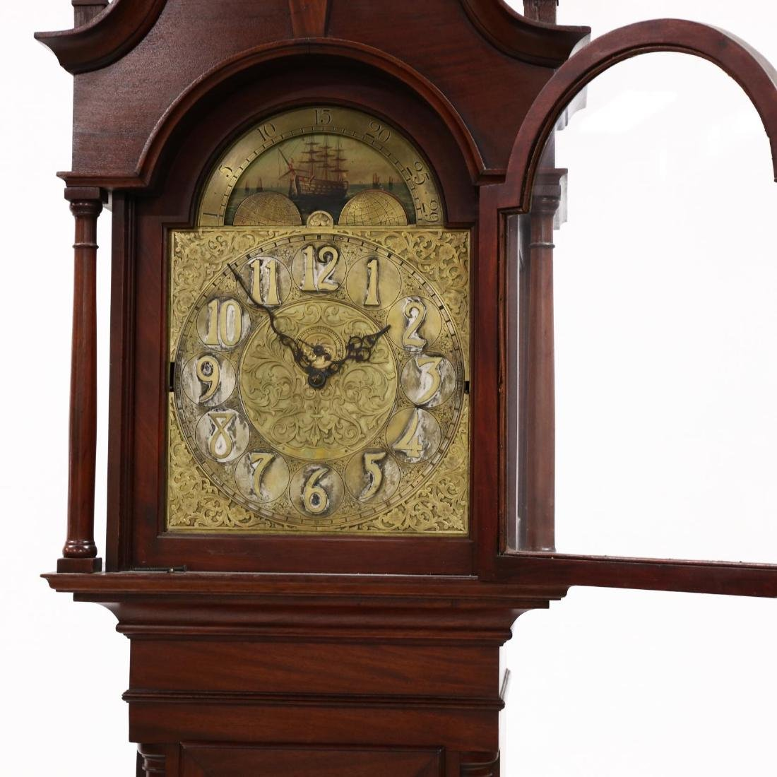 Chippendale Style Antique Tall Case Clock - 2