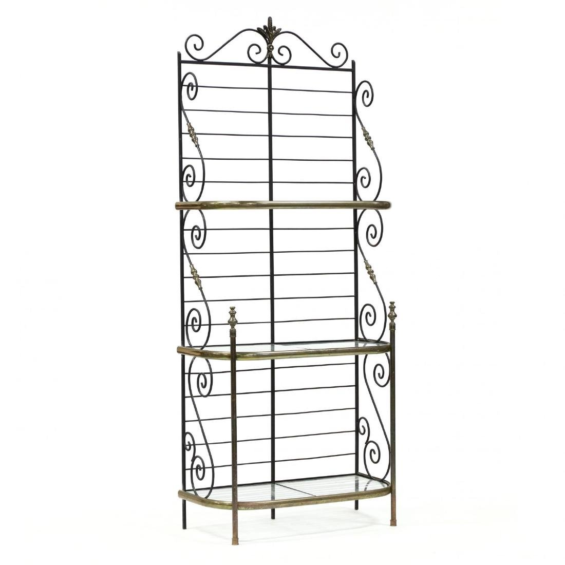 Iron and Brass Baker's Rack