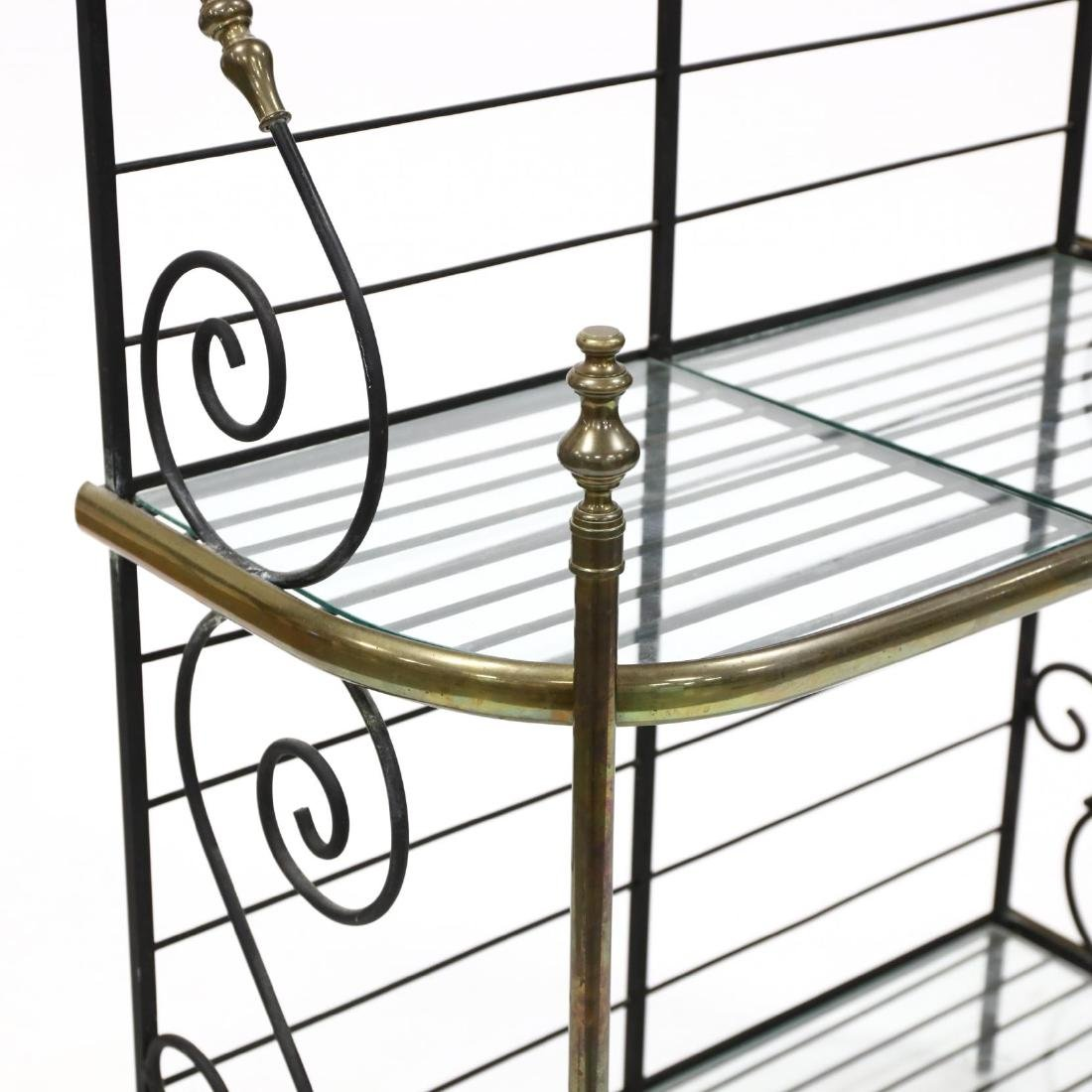 Iron and Brass Baker's Rack - 2