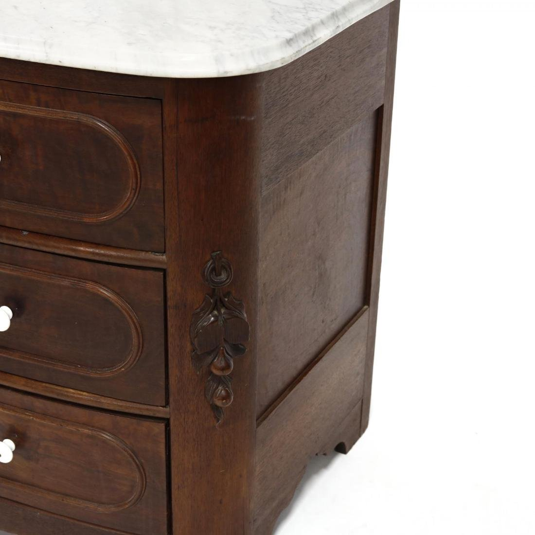 American Victorian Marble Top Chest of Drawers - 3