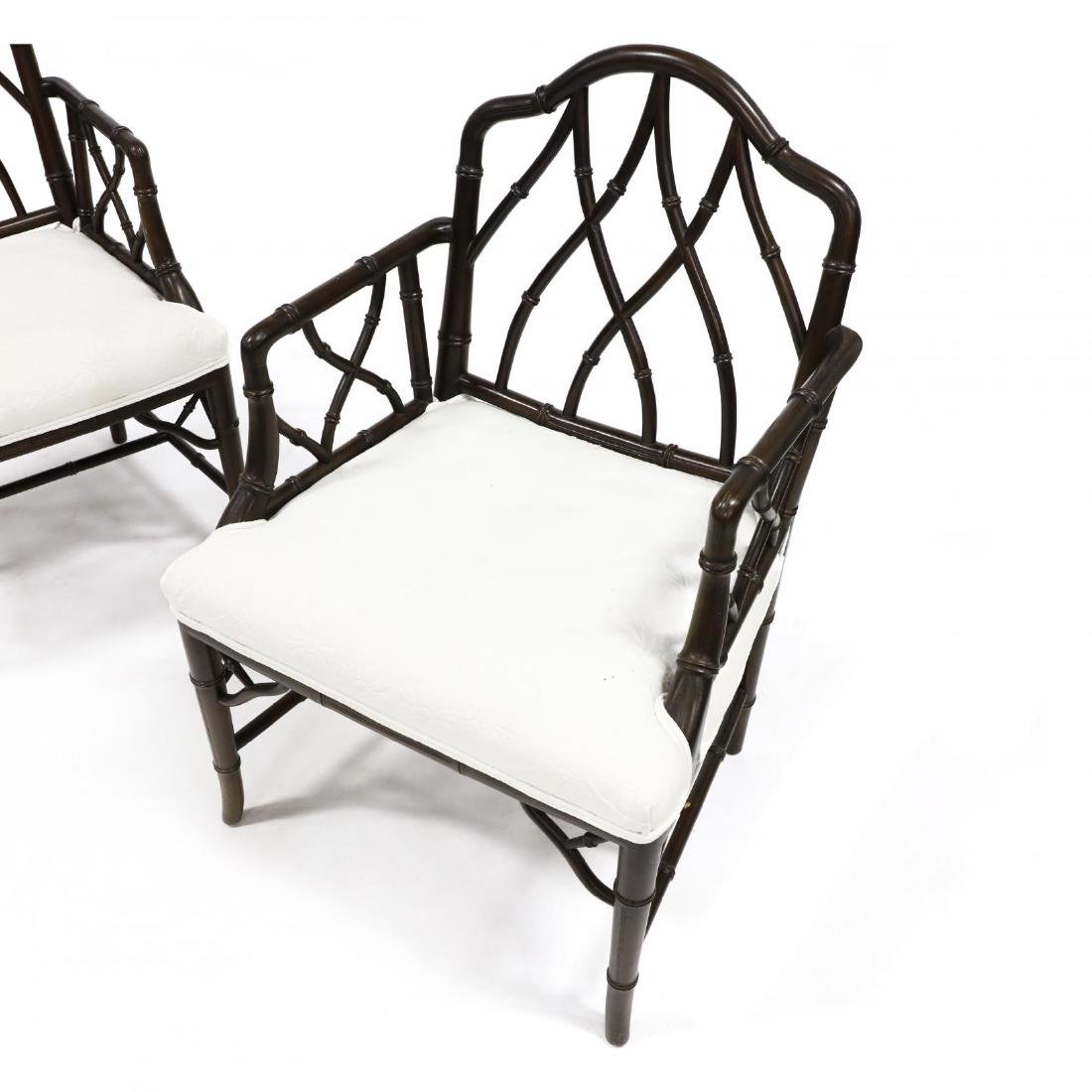 Pair of Chinese Chippendale Style Armchairs - 2