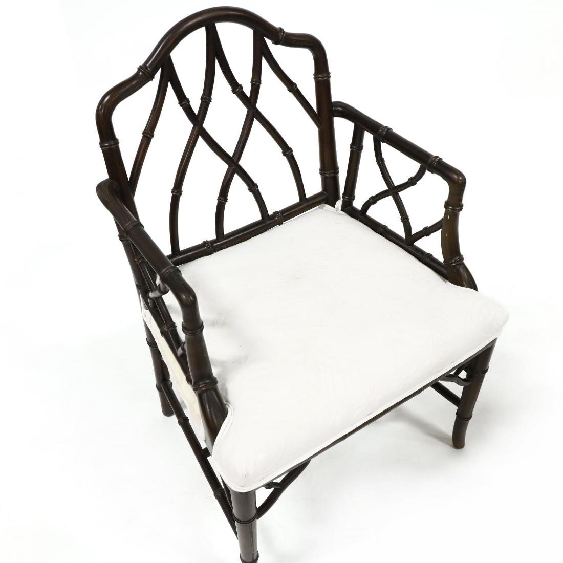 Pair of Chinese Chippendale Style Armchairs - 3