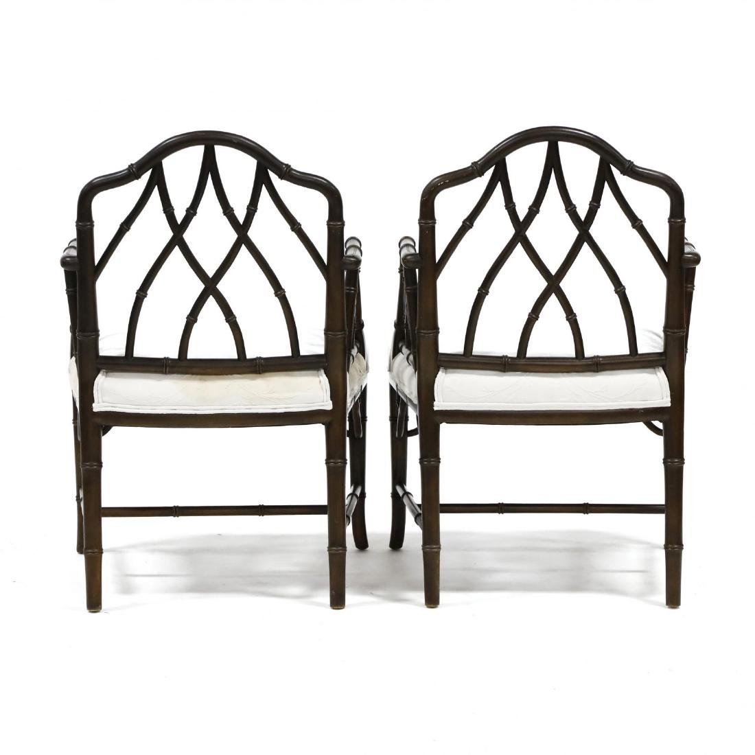 Pair of Chinese Chippendale Style Armchairs - 4