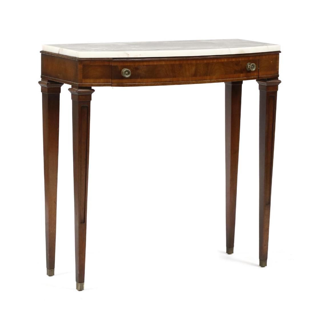J. B. Van Sciver, Regency Style Marble Top Diminutive